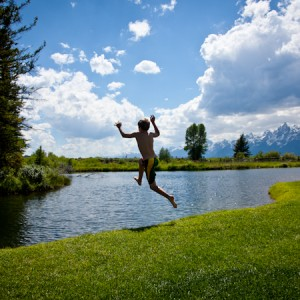 moose-head-ranch-trout-pond-swimming